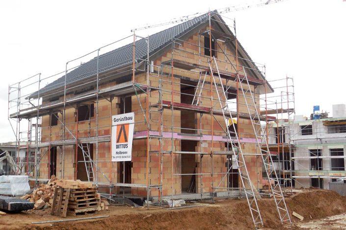 Baugerüst Wohnhaus