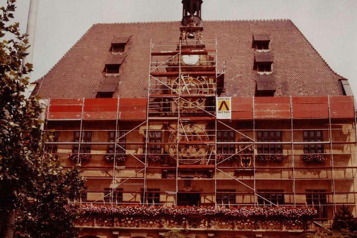 Gerüst Rathaus Heilbronn
