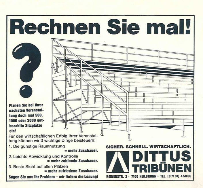 Anzeige Dittus Tribünen